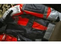 Ladies motorcycle trousers, jacket and gloves