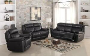 BLACK POWER RECLINER WITH HIGH DENSITY FOAM GL08 6595-117 TROY (BD-1307)