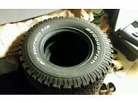 BF GOODRICH all terrain 265 75 16 4x4 tyres