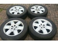 GENUINE 19 LANDROVER DISCOVERY HSE ALLOY WHEELS TD5 VOGUE SPORT GOODYEARS