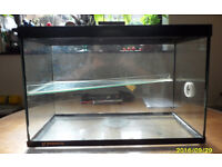 ALL GLASS TWO TIER RODENT CAGE