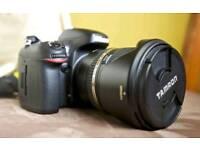Nikon d600 full frame camera + tamron 24-70mm f2.8