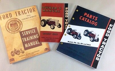 Lot Ford Naa Golden Jubilee Tractor Service Operators Parts Manuals Shop Repair