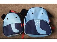 Skip hop zoo backpack & lunchbag