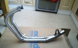 CB 500 Stainless steel downpipes