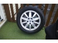 Renault grand senic set of 4 alloy wheels with very good tyres