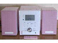 Pink Micro Hi-Fi, boxed.