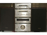 60w Technics HD301 mini HI FI MICRO system CD FM Cassette AUX input for iPod MP3 or phone