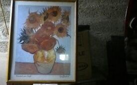 2 van gough framed pictures