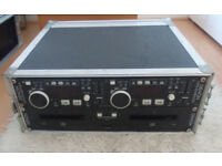 Denon DN-D4000 PRO Twin CD Decks - DJ Disco MP3 Pitch Control + Flightcase Club