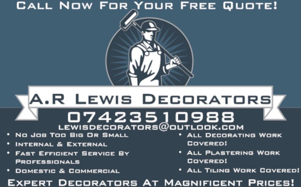 A.R Lewis Decorators - Expert Decorators At Magnificent Prices. Call Now For Free Quote 07423510988