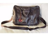 Genuine Radley brown soft leather laptop/shoulder bag