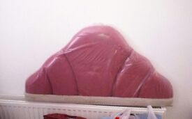 Head board for single bed pink brand new
