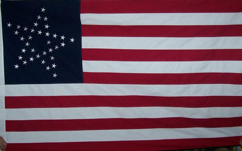 GREAT STAR FLAG - HEAVY DUTY SEWN COTTON FLAG - AMERICAN HISTORICAL - USA