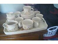 Tea set and tray