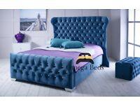 "Alaska Upholstered Luxury Wingback 4ft 6"" Double Bed"