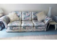 FREE 3 seater sofa + single chair Duresta floral suite, collect MILLPORT