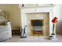 Electric flame fire and surround plus hearth