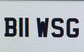 Cherished Number Plate - B11 WSG