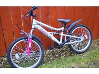 "GIRLS 20"" MOUNTAIN BIKE + MUDGUARDS **FREE DELIVERY HULL**"