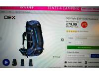OEX vallo 70-80 litre backpack