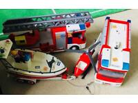 Playmobil Fire Station and Engines