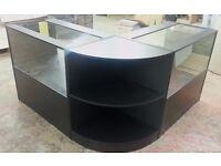 Black Matt Glass Shop counter
