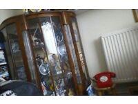 Antique Display Cabinet 1930s Art Deco walnut