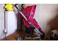 VERY PRETTY, & SPOTLESSLY CLEAN, PINK BUGGY + RAINCOVER **FREE DELIVERY HULL**