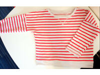 Atmosphere waist lenght striped sweater size 8