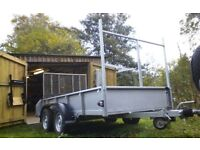 For sale Ifor Williams twin axle trailer.