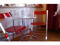 Retro bistro table and two chairs,in very good condition viewing welcome
