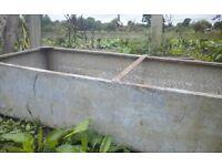 Galvanized water trough