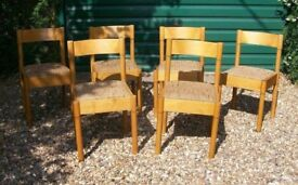 SET OF SIX RETRO 70's 'DINETE BRAND' DINING CHAIRS ~ VERY GOOD CONDITION