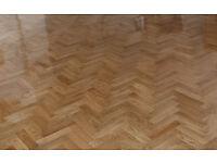 Tumbled Prime Oak Parquet Flooring Blocks Satin Oil Finish, size 16x70x280mm
