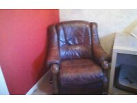 Leather wooden electric recliner chair for sale