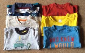 Baby Boy 6 - 9 Months Tops & TShirts x 6 - £2