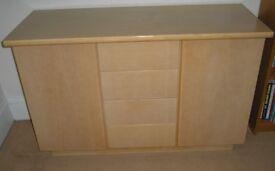 Sideboard storage cupboard. Modern design.
