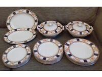 Alfred Meakin Stanley dinner service/set 2 lidded turines,2 platters,18 plates