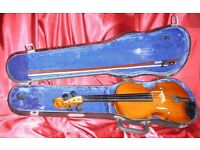 Student 4/4 Violin hard Case Set; Ready to play