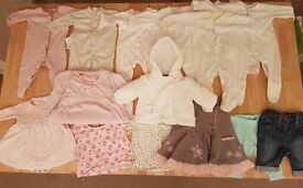 3-6 months bundle of girls baby clothes