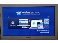 "Hitachi 6500T 65"" Touchscreen with WePresent 1500, Floor Trolley and Wall Mount"