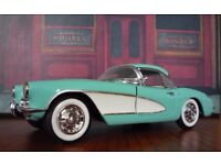 Four Franklin Mint 1950s Corvette Cars 1:24 scale