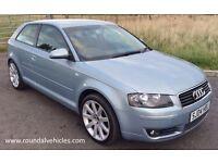 "2004 Audi A3 2.0 Tdi SPORT 3 door hatch 12 months mot, half leather seats 18"" wheels"