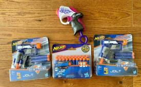 2 new nerf guns, new darts & 'used like new' Nerf Rebelle gun