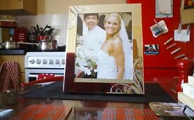 Silver coloured photo frame