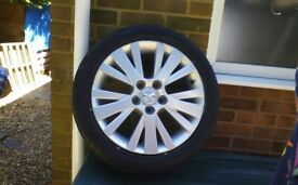 Mazda alloy wheel and tyre
