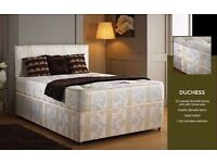BRAND NEW!! SUPERB QUALITY!!SINGLE DIVAN BED BASE WITH LUXURY ORTHOPAEDIC MATTRESS