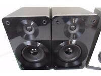 BUSH 50 WATTS DOME AND WOOFER BLACK GLOSS BOOKSHELF SPEAKERS