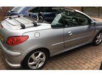 Peugeot 206 cc cabriolet 1.6 petrol Allure. Silver. Hardtop. 2004. 94,500 miles.
